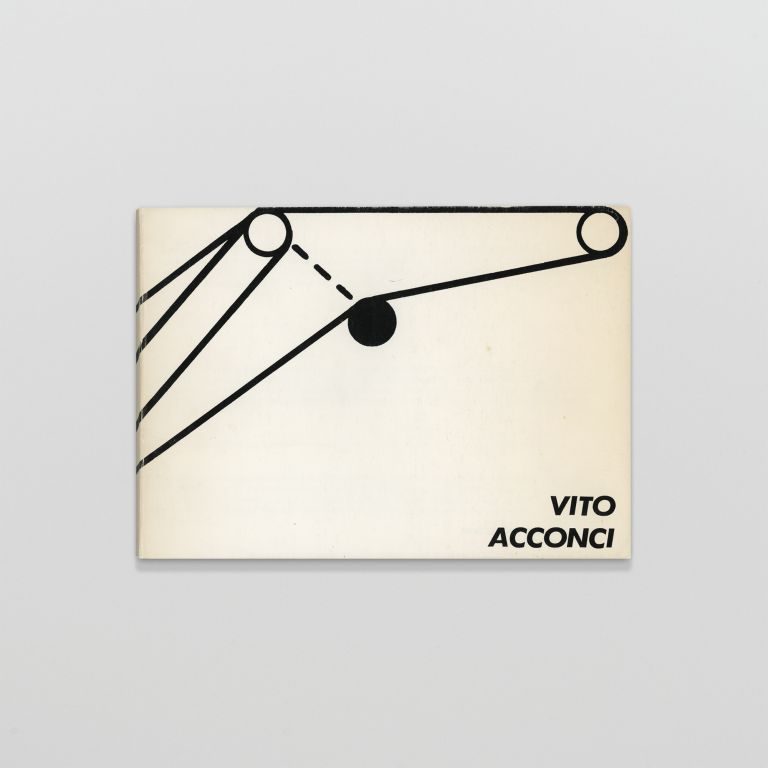 Vito Acconci: Catalogue of Headline & Image