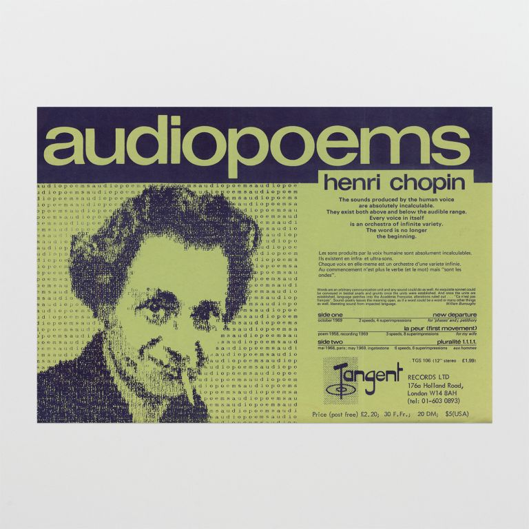 Flyer for 'audiopoems'