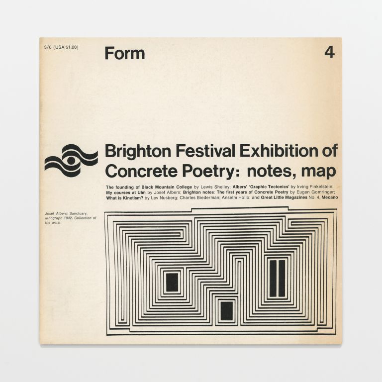Form no. 4 / Brighton Festival Exhibition of Concrete Poetry: notes, map