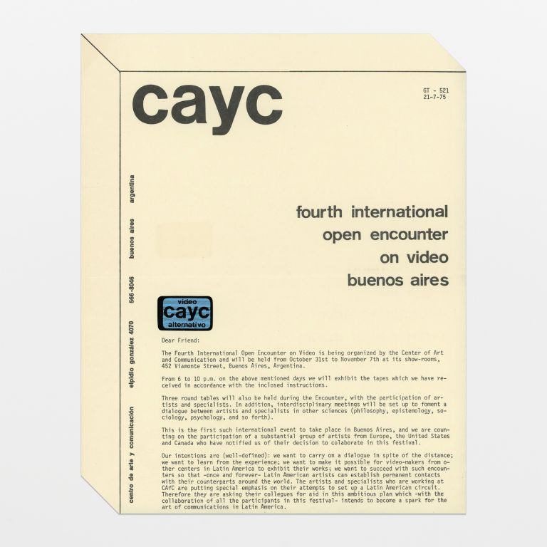 cayc: fourth international open encounter on video