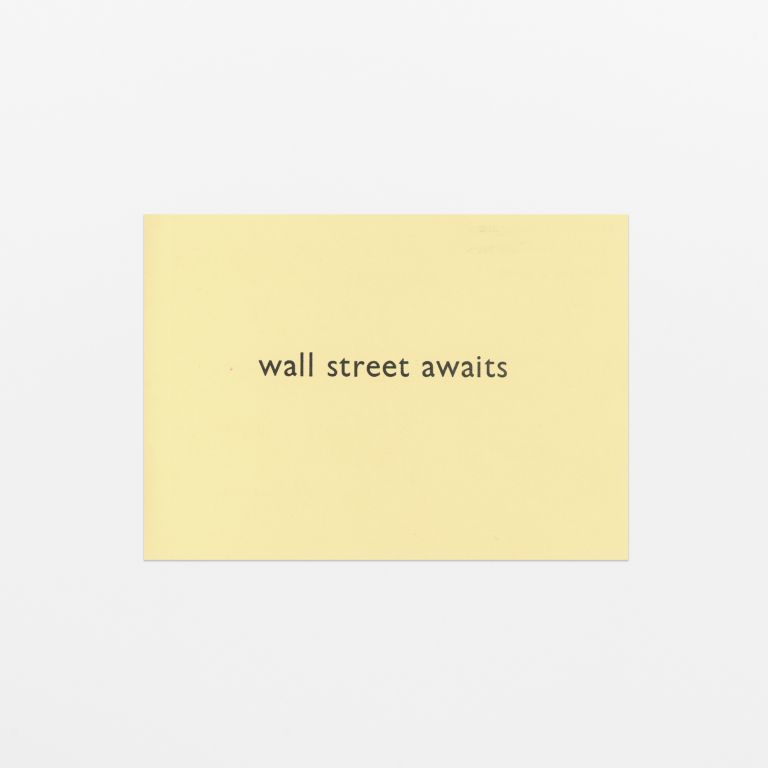 wall street awaits