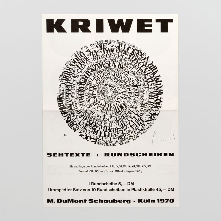Colophon for Sehtexte: Rundscheiben