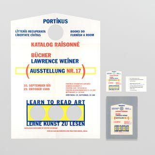 A suite of four items relating to 'Lawrence Weiner, Books 1968 – 1989: Catalog...