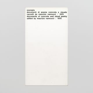exempla: documenti di poesia concreta e visuale / documents of concrete and visual poetry