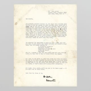 Letter to A. Doyle Moore