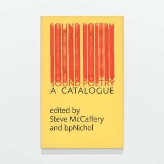 Sound Poetry: A Catalogue