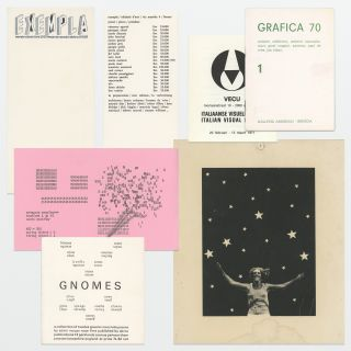 Lot of six concrete poetry items