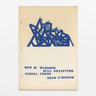 WAR W. WINDSOR / VISUAL TEXTS