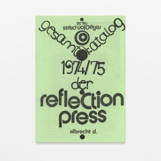 gesamtkatalog nr. 38 / der reflection press 1974/75