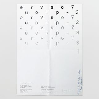 poster for europvispo – 73: an exhibition of visual poetry by four europeans