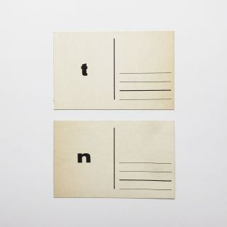"""t"" and ""n"" postcards"