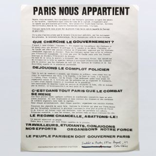 PARIS NOUS APPARTIENT (PARIS BELONGS TO US)