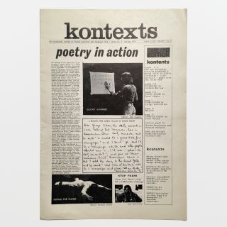kontexts: an occasional review of visual poetries and language arts — issue no. 8