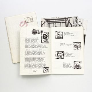 Thirty-five issues of Rubber, A Monthly Bulletin On the Use of Rubberstamps in the Arts